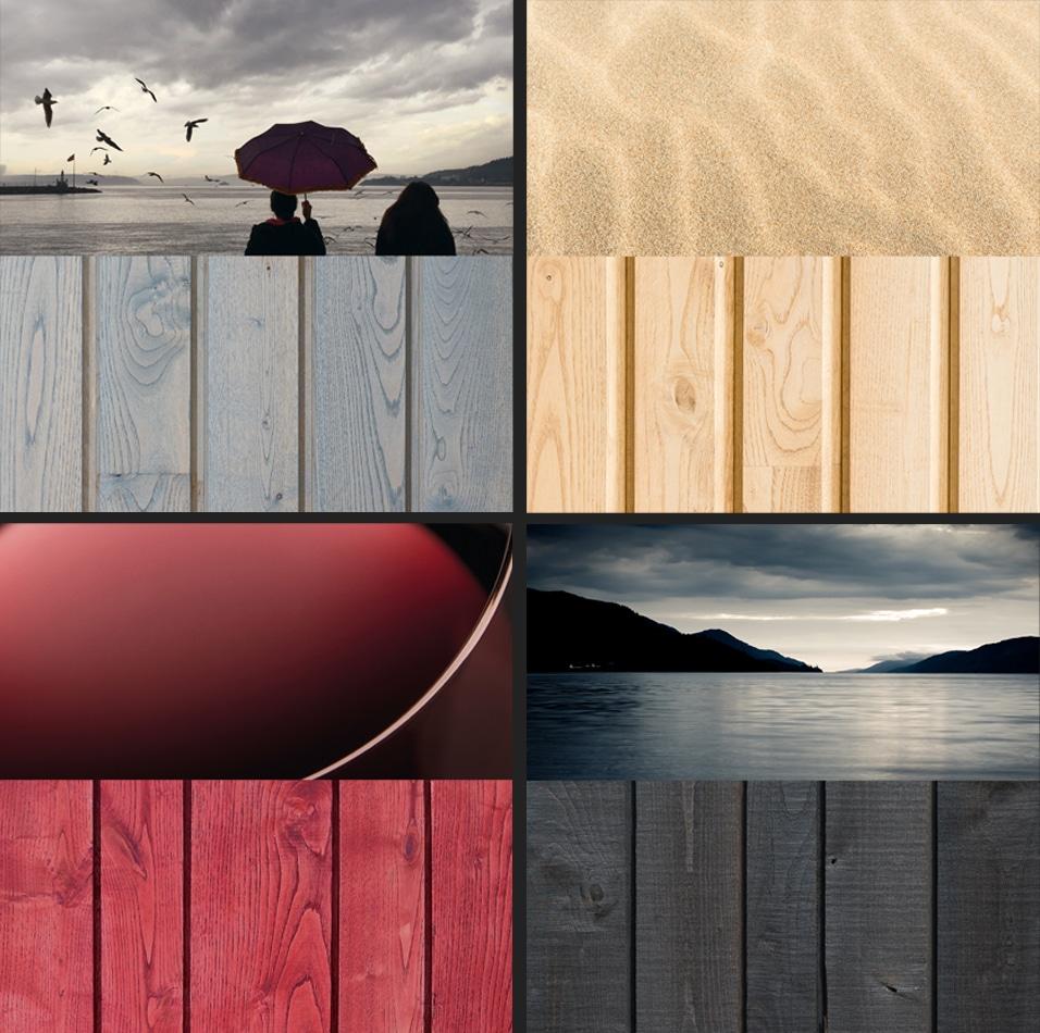 Bardage bois colore, exemple de couleur de la gamme Révélée de RahuelBois