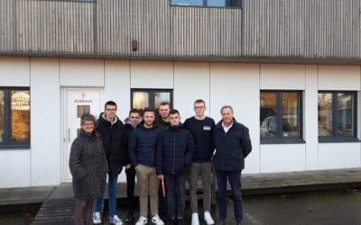 Les élèves du lycée Les Vergers en visite chez RahuelBois